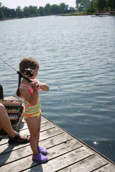 Paula fishing